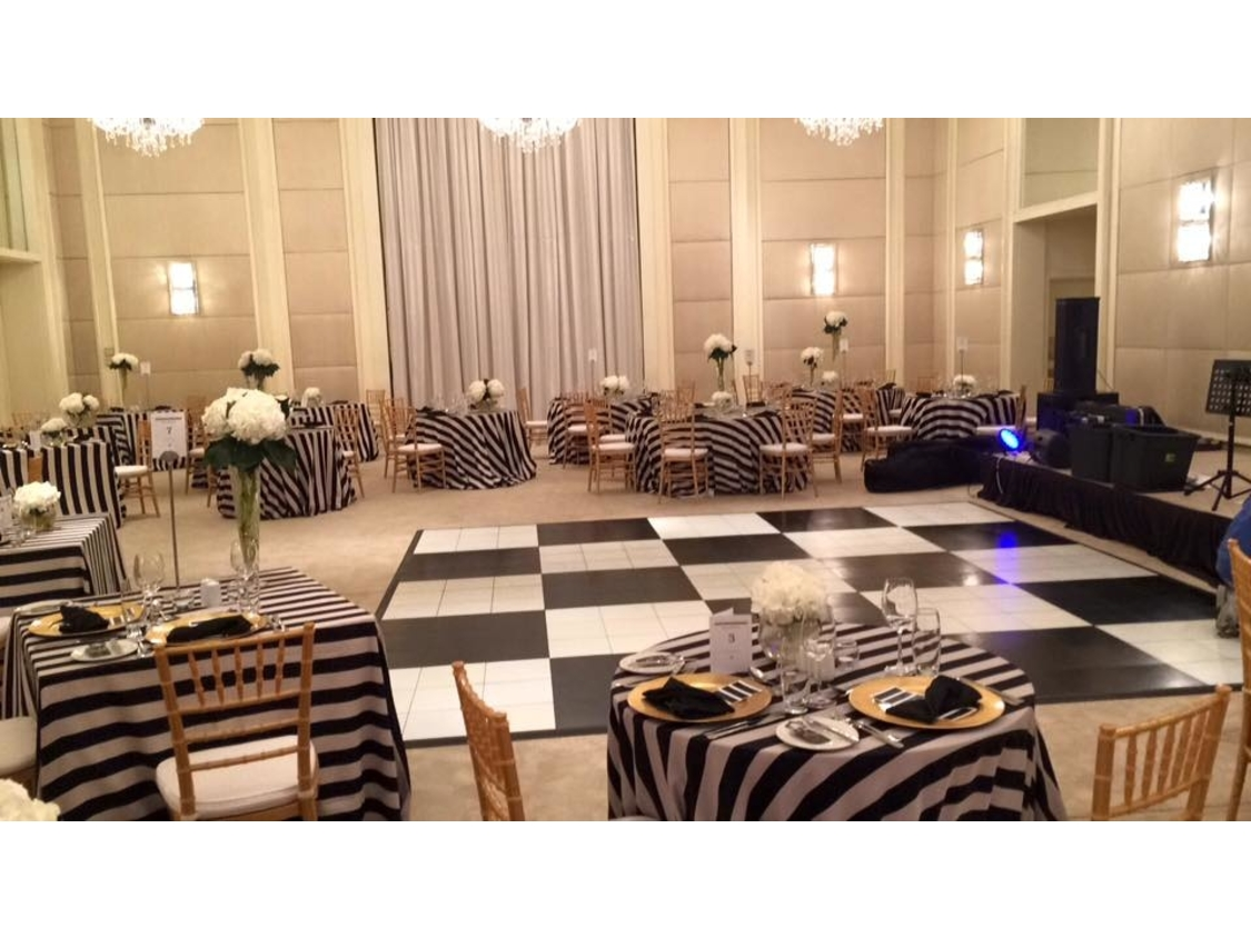 Dance Floor Hire | Black and White Portable Dance Floor