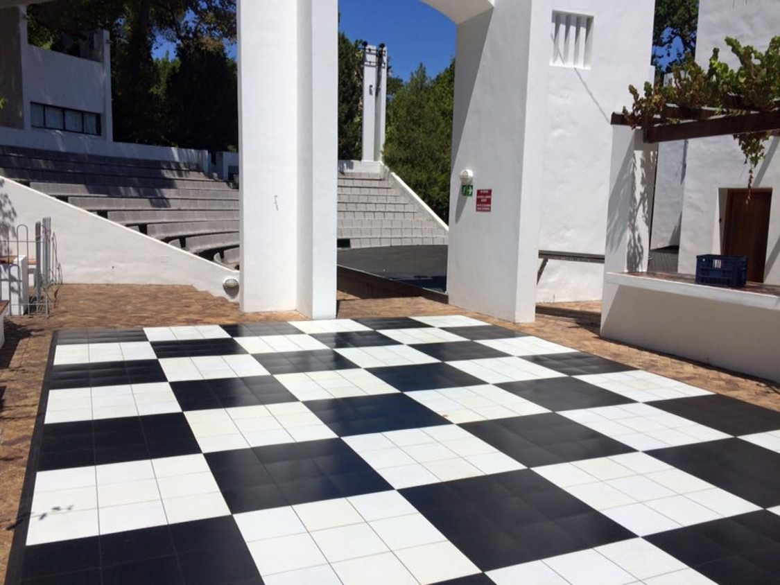 Dance Floor Hire | Black and White Checkered Portable Dance Floor