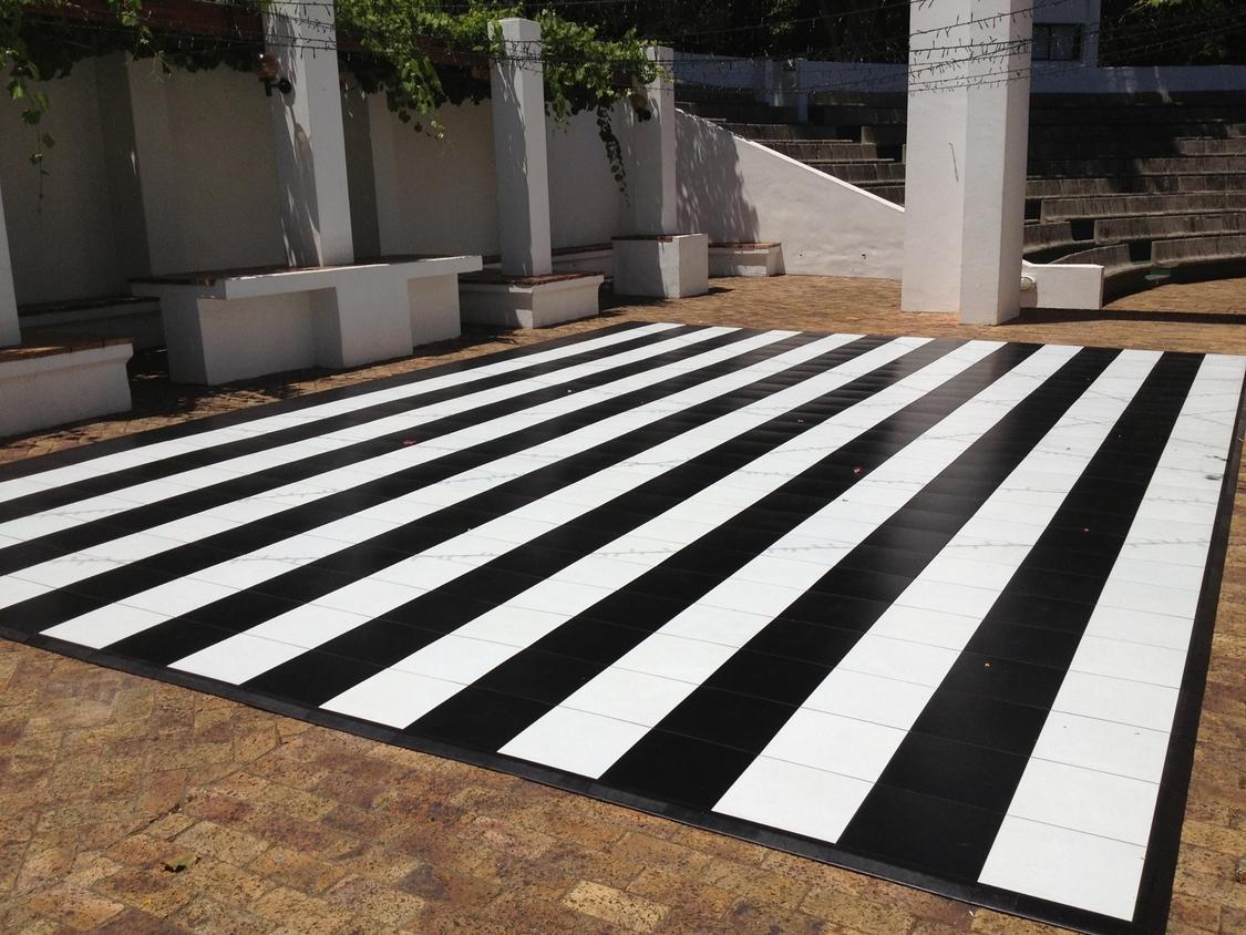 Dance Floor Hire | Black and White Stripes - Dance Floor