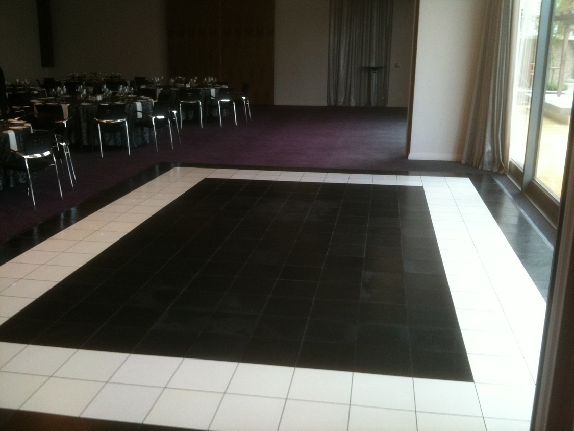 Dance Floor Hire | Black and White style for African Pride Crystal Towers Hotel & Spa