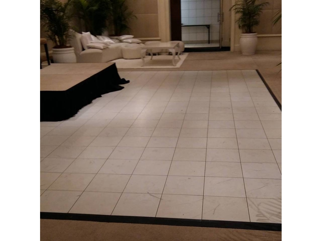 Dance Floor Hire | Breakdown of a White Dance Floor- One And Only Hotel