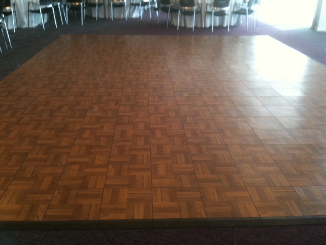 Dance Floor Hire | Dark Oak Dance Floor at Crystal Towers, Hotel and Spa