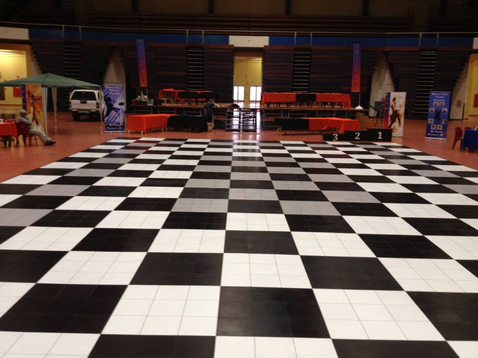 Big Black, White & Grey Dance Floor | Dance Floor Hire