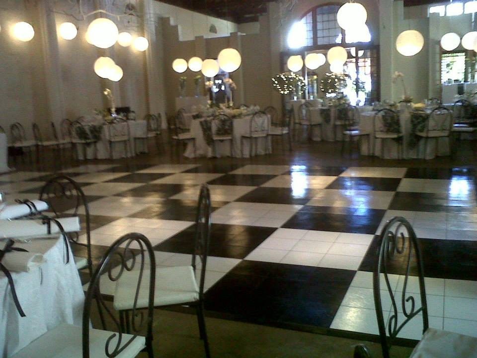 White & black dance floor | dance FLoor Hire