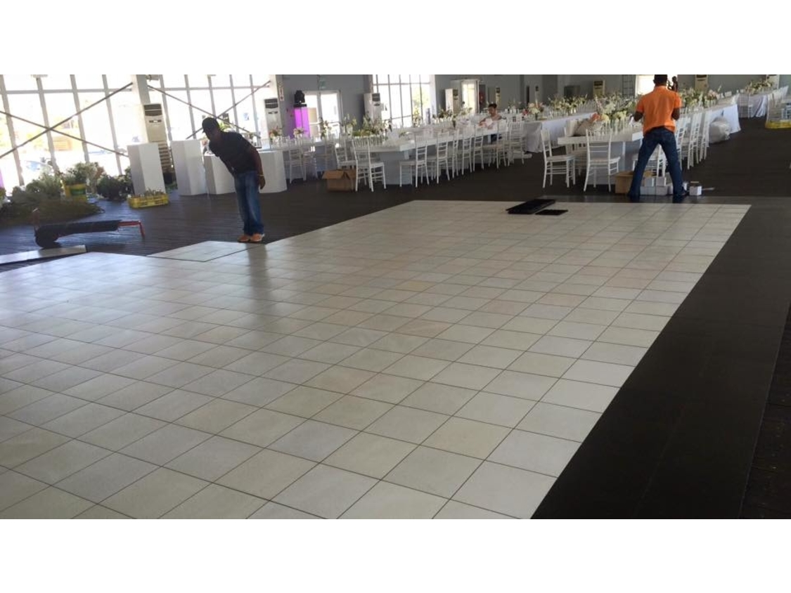 Dance Floor Hire | White Dance Floor - Lookout Granger Bay