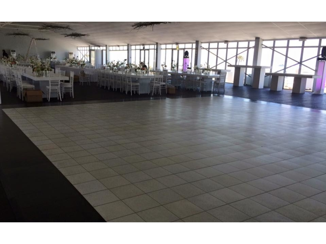 White Dance Floor - Lookout Granger Bay | White Portable Dance Floor - Lookout Granger Bay